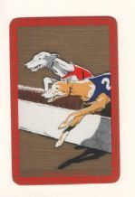 "Collectible playing cards  Narrow named  ""Greyhounds hurdling"